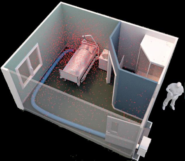 Agema - Solution de purification d'air chambre d'hôpital